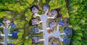 aerial drone photography neigborhood