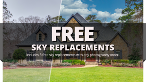 sky replacements real estate photography